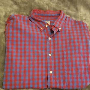 J. Crew plaid shirt, Size Large, Red/Blue